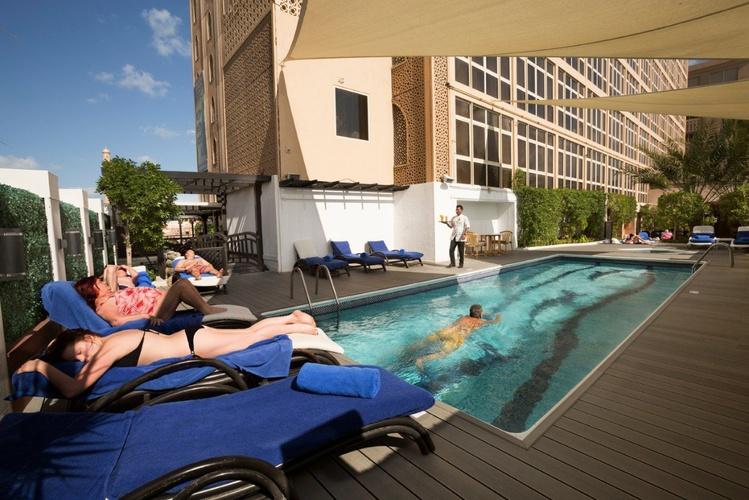 游泳池 阿拉伯庭院水疗酒店 酒店和水療中心 迪拜酋长国
