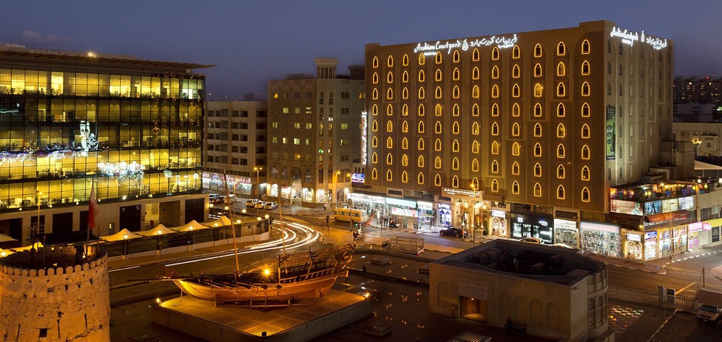 正面 阿拉伯庭院水疗酒店 酒店和水療中心 迪拜酋长国